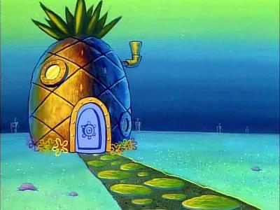 Ananas Bob L Éponge bob l'Éponge carré - les lieux : chez bob l'Éponge